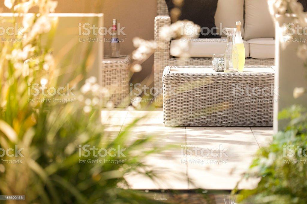 Sitzgelegenheiten im Garten – Foto