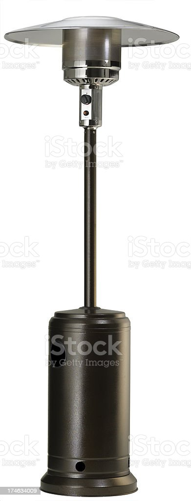 Outdoor Gas or Propane Patio Heater,  Isolated stock photo