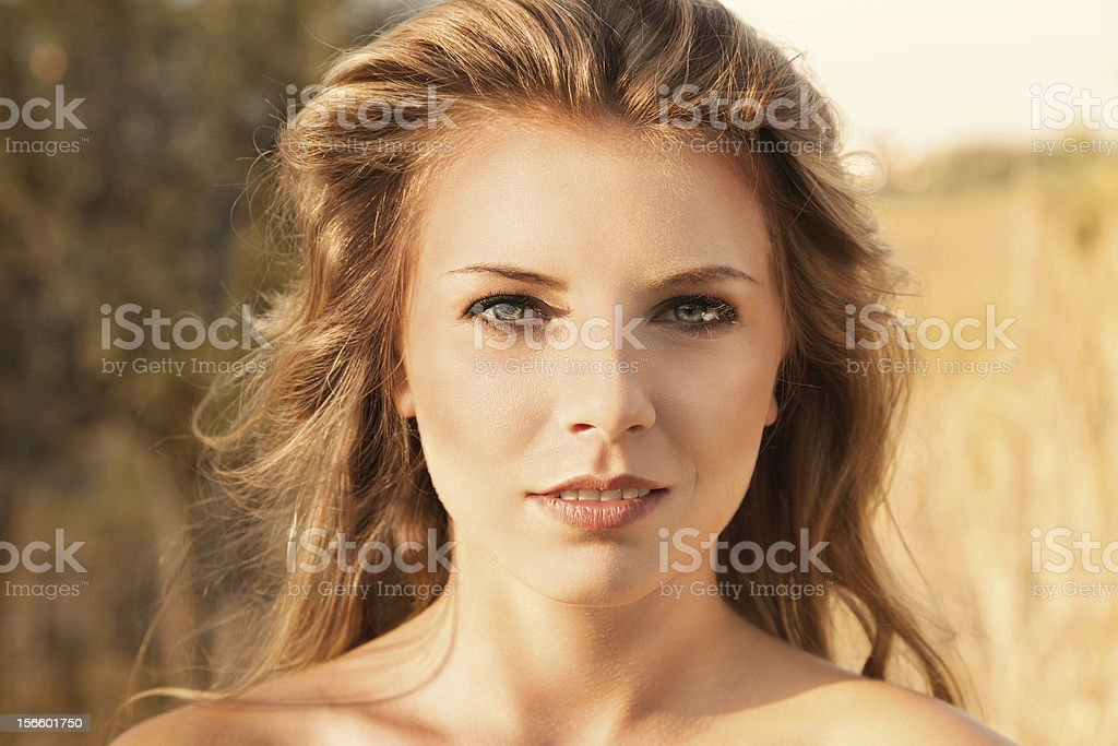 Outdoor girl portrait royalty-free stock photo