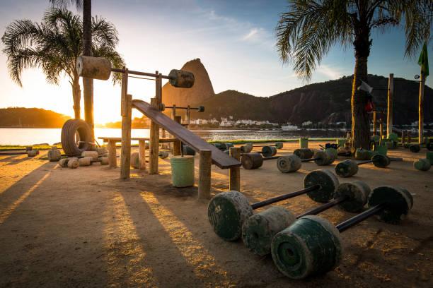 Outdoor Gym in Rio de Janeiro stock photo