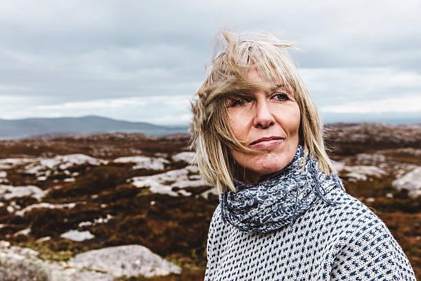 Al aire libre Hebridean Retrato de una mujer - foto de stock