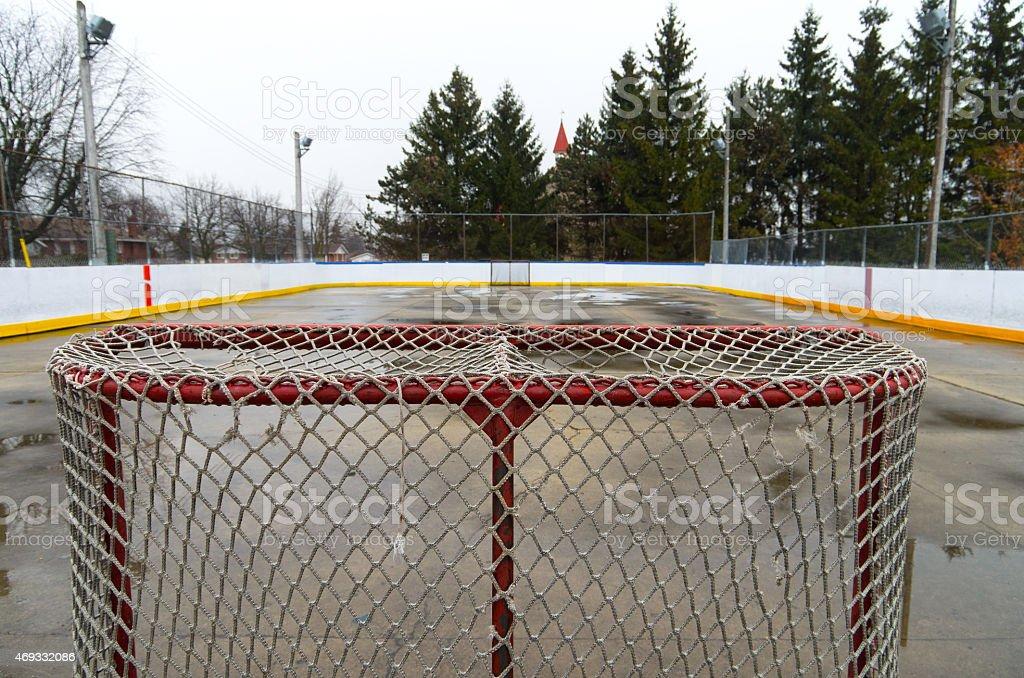 Outdoor Hockey Rink stock photo