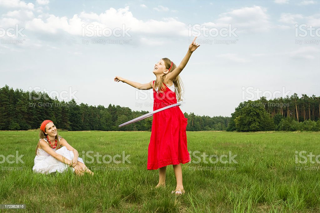 Outdoor Hula Hoop royalty-free stock photo