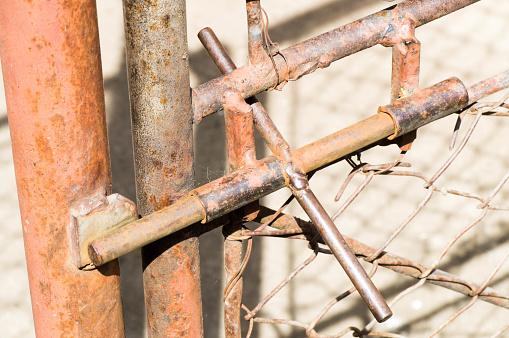 Outdoor iron gate lock