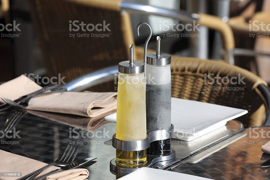 Outdoor Italian Restaurant royalty-free stock photo