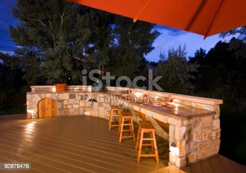 istock Outdoor Kitchen at dusk 92876476
