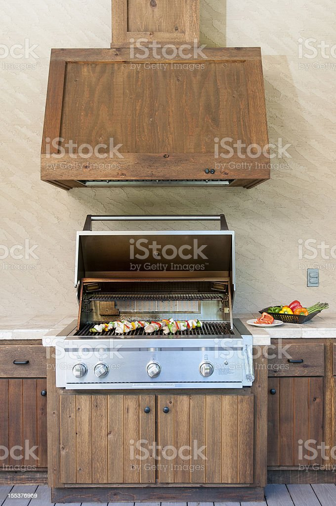 Outdoor Kitchen stock photo