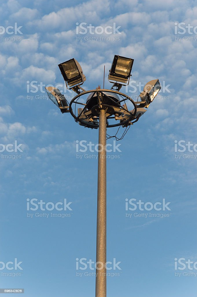Outdoor Lamp with sky , Modern Lighting with sky outdoor royalty-free stock photo