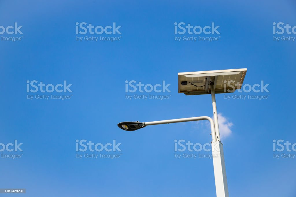 Outdoor LED Lighting, Cloud and blue sky.