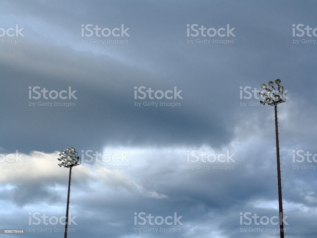 Outdoor Light Towers stock photo