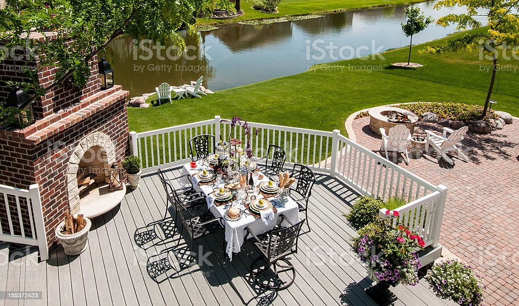 Outdoor Living Patio stock photo