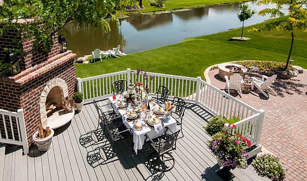 Outdoor Living Patio stock photo
