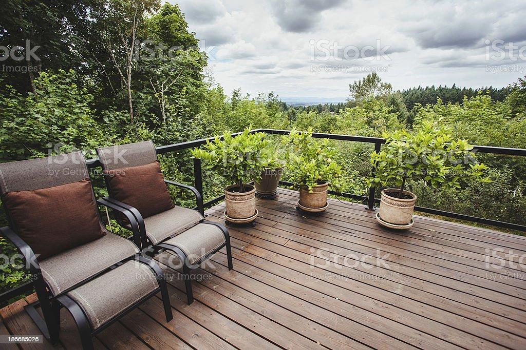 Lujo Casa Patio Al Aire Libre Con Muebles De Jardín Al Aire Libre De ...