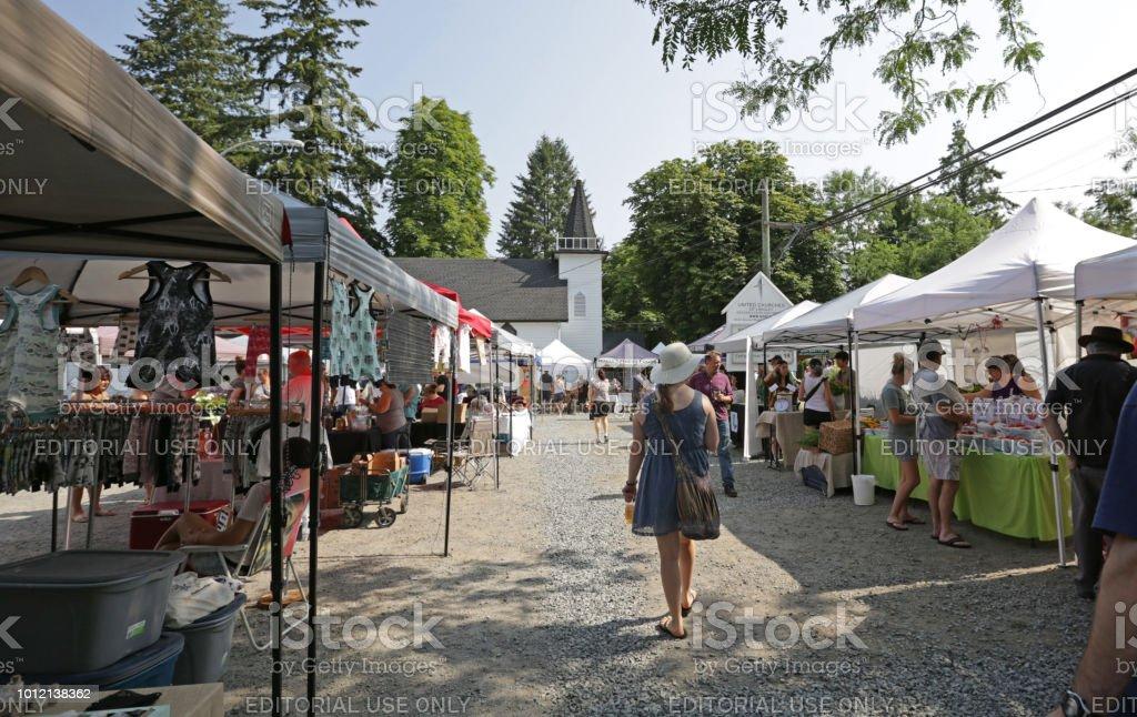Outdoor Market in Langley, Canada
