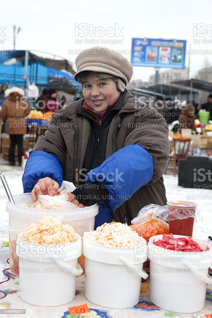 Volgograd, Russian federation - January 16, 2011: woman in warm...