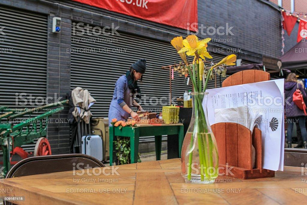 Outdoor market, London stock photo