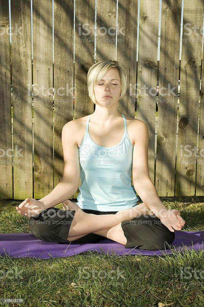 Outdoor Meditation royalty-free stock photo