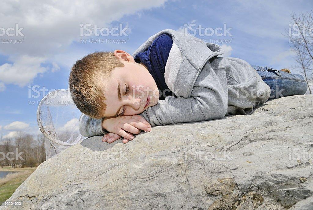 Outdoor Nap stock photo