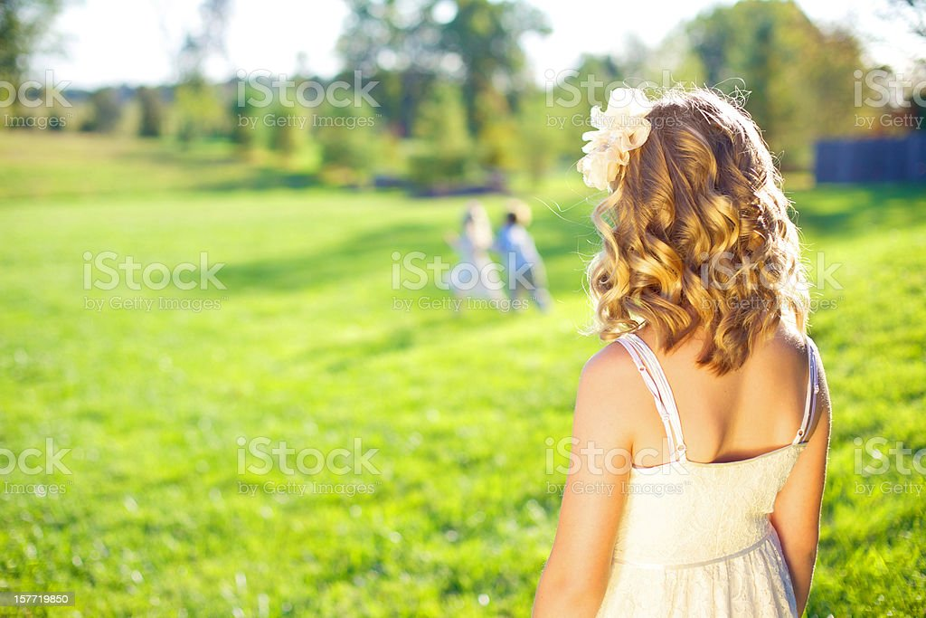 outdoor nature female beauty in summer royalty-free stock photo