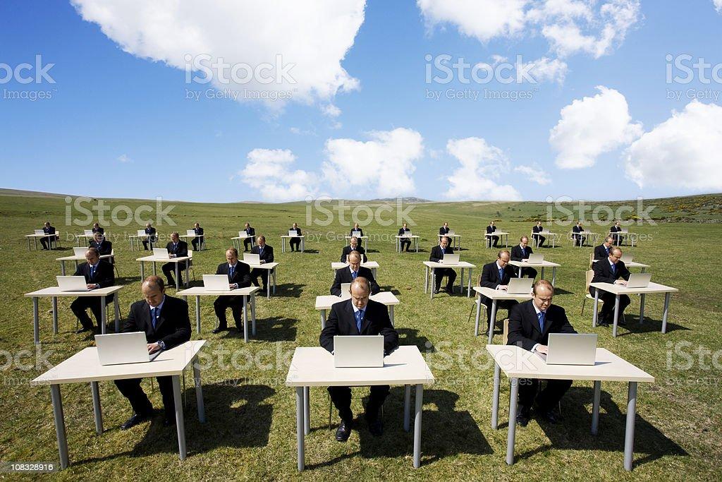 Outdoor office stock photo
