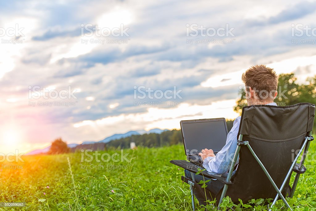 Outdoor office stock photo
