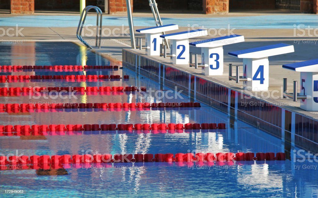 Outdoor Olympic Swimming Pool royalty-free stock photo