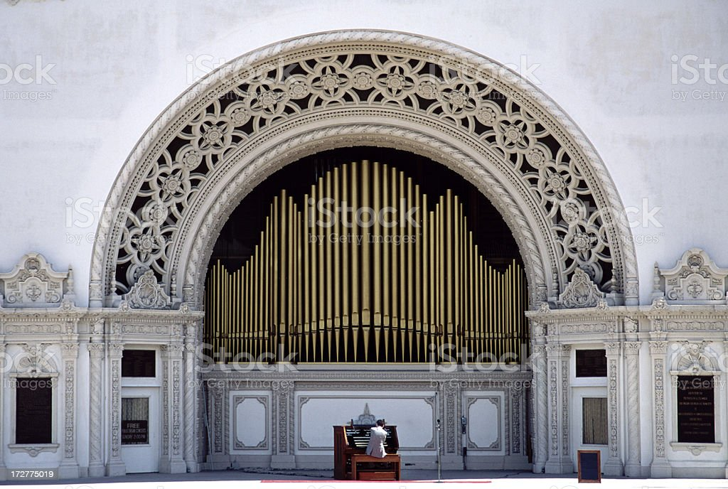 Outdoor Organ Concert stock photo