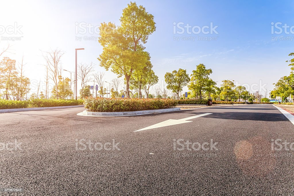 Outdoor parking road stock photo