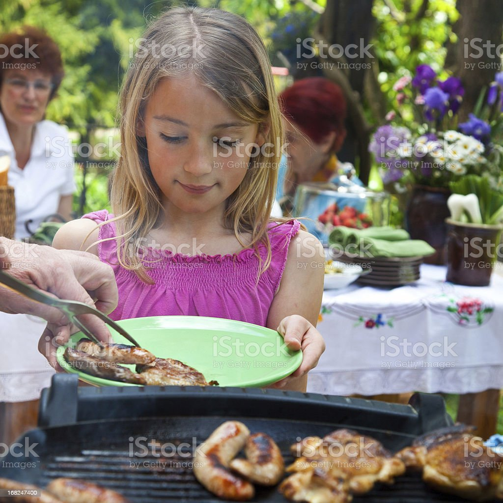 Outdoor party royalty-free stock photo