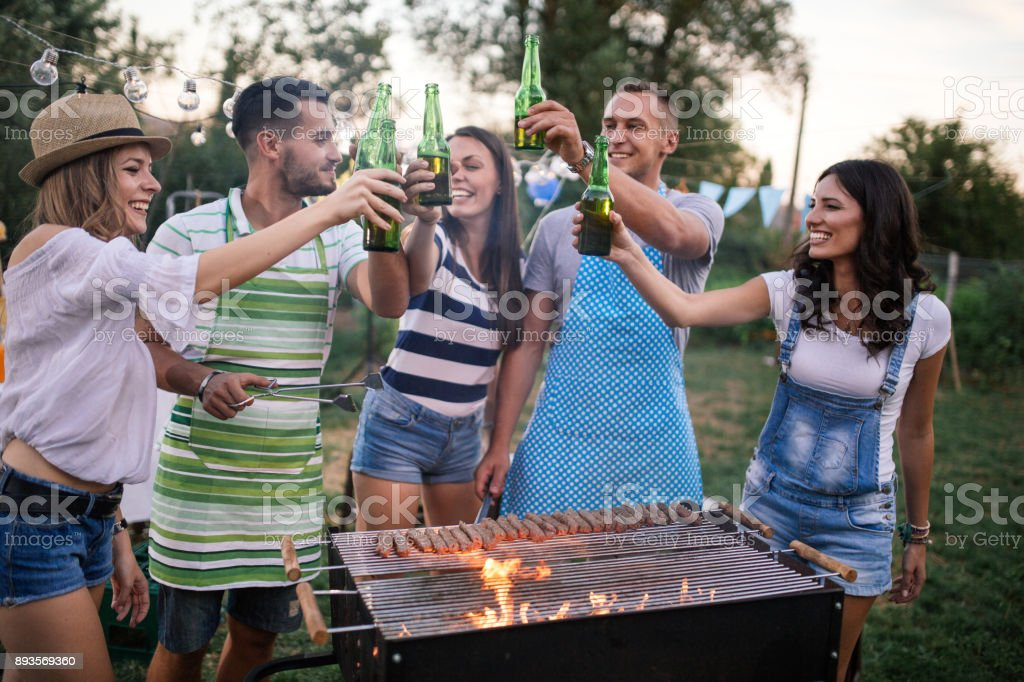 Outdoor party stock photo