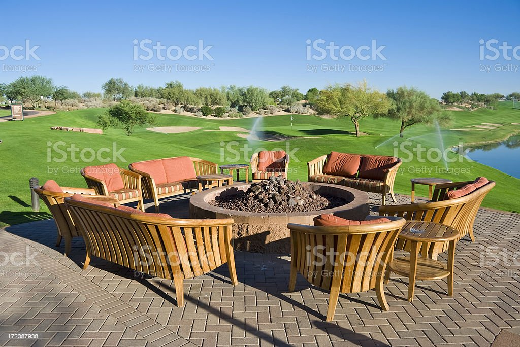 Outdoor Patio and Furniture stock photo