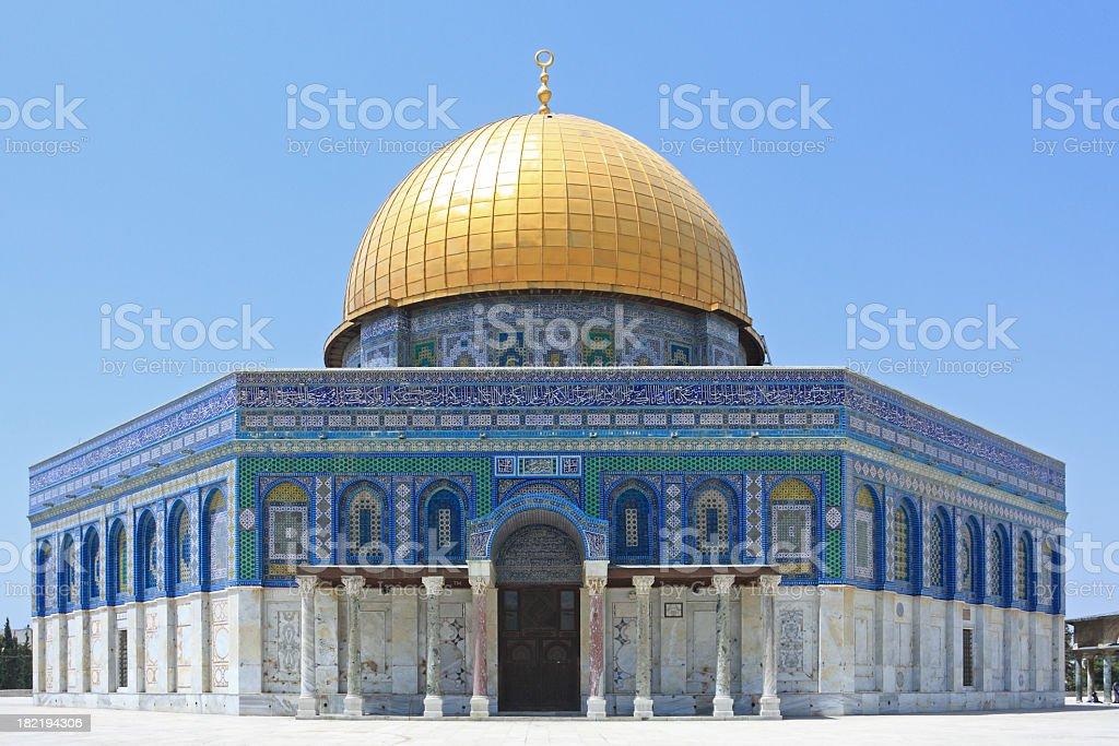 Outdoor photo of Al - Aska, Dome of the Rock, Jerusalem royalty-free stock photo