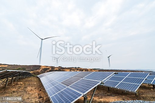 Outdoor photovoltaic power generation scene