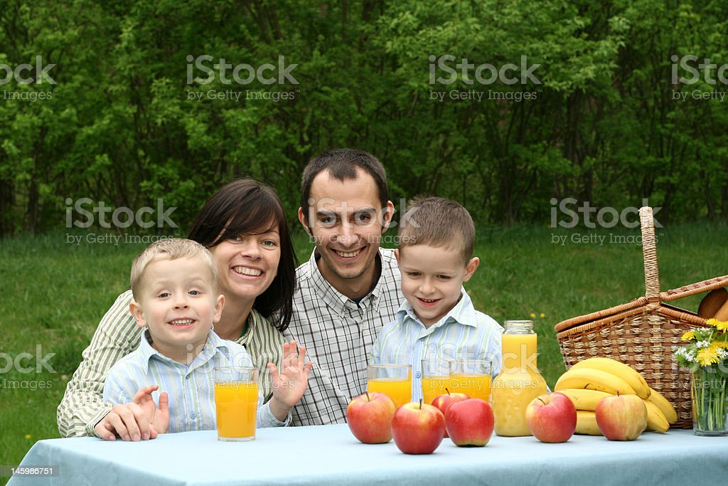 outdoor picnic royalty-free stock photo