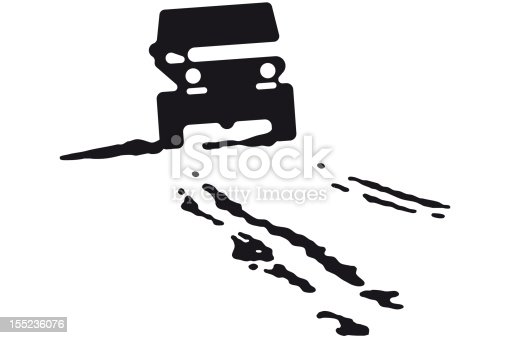 illustration of a jeep with tire tracks