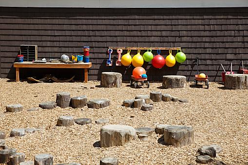 outdoor playground in the children daycare
