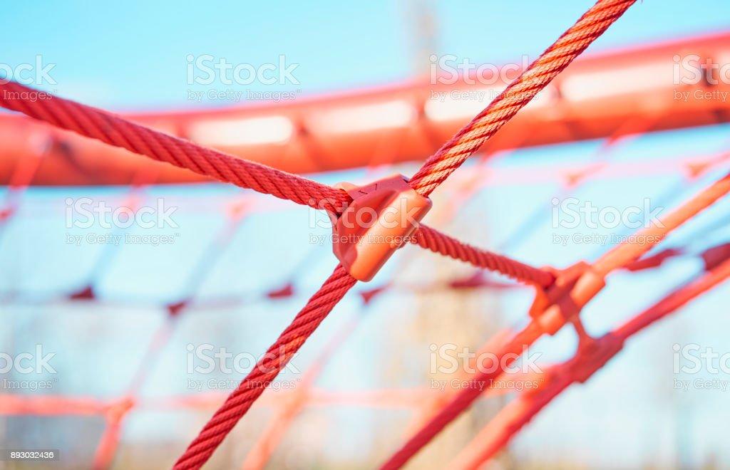 Spielplatz im Freien mit Seilen Lizenzfreies stock-foto
