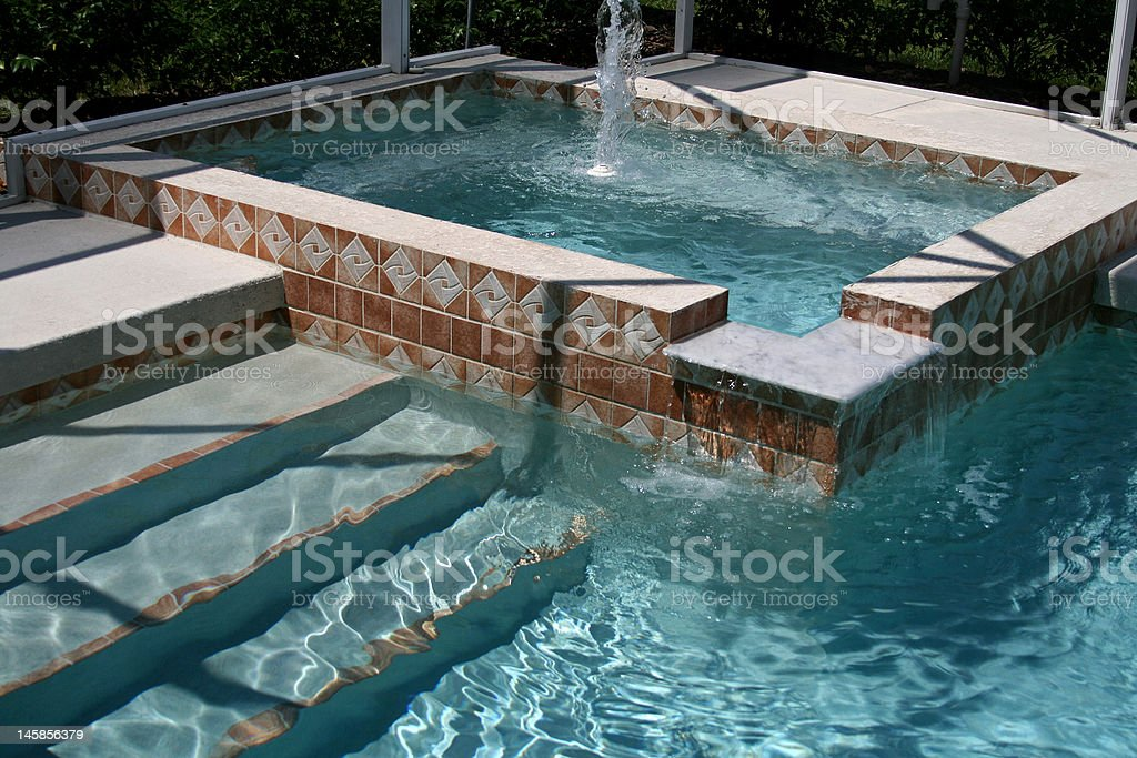 outdoor pool & hot-tub royalty-free stock photo