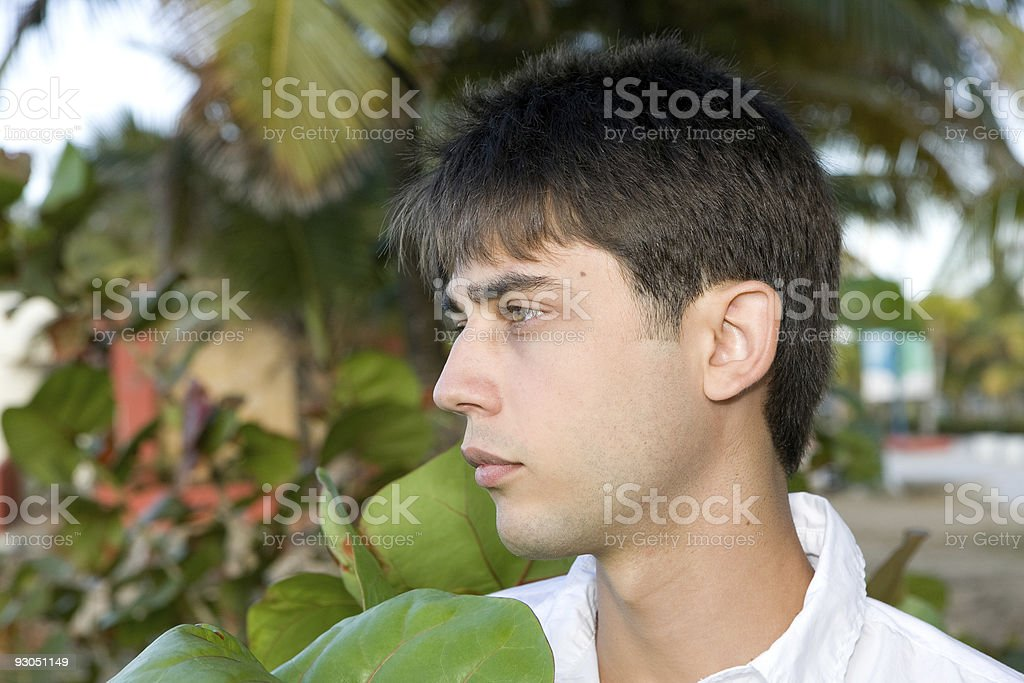 Outdoor Portrait of a Happy Young Successful Attractive Male royalty-free stock photo
