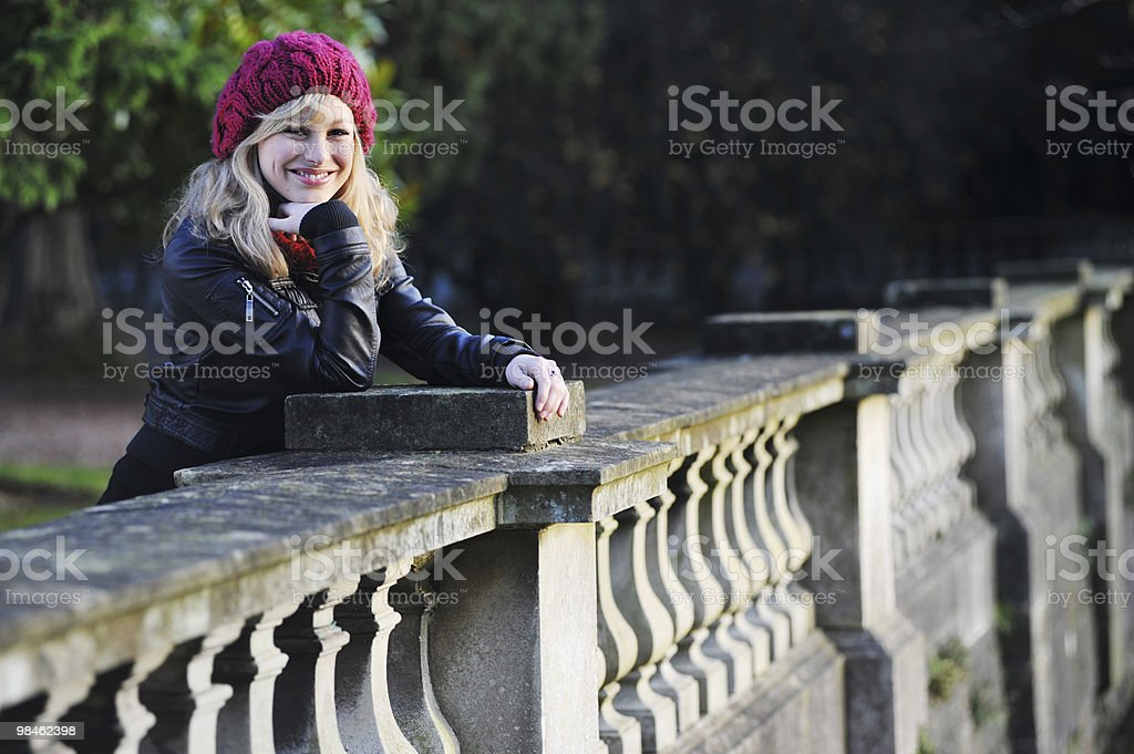Outdoor Portrait Of Cheerful Young Woman royalty-free stock photo