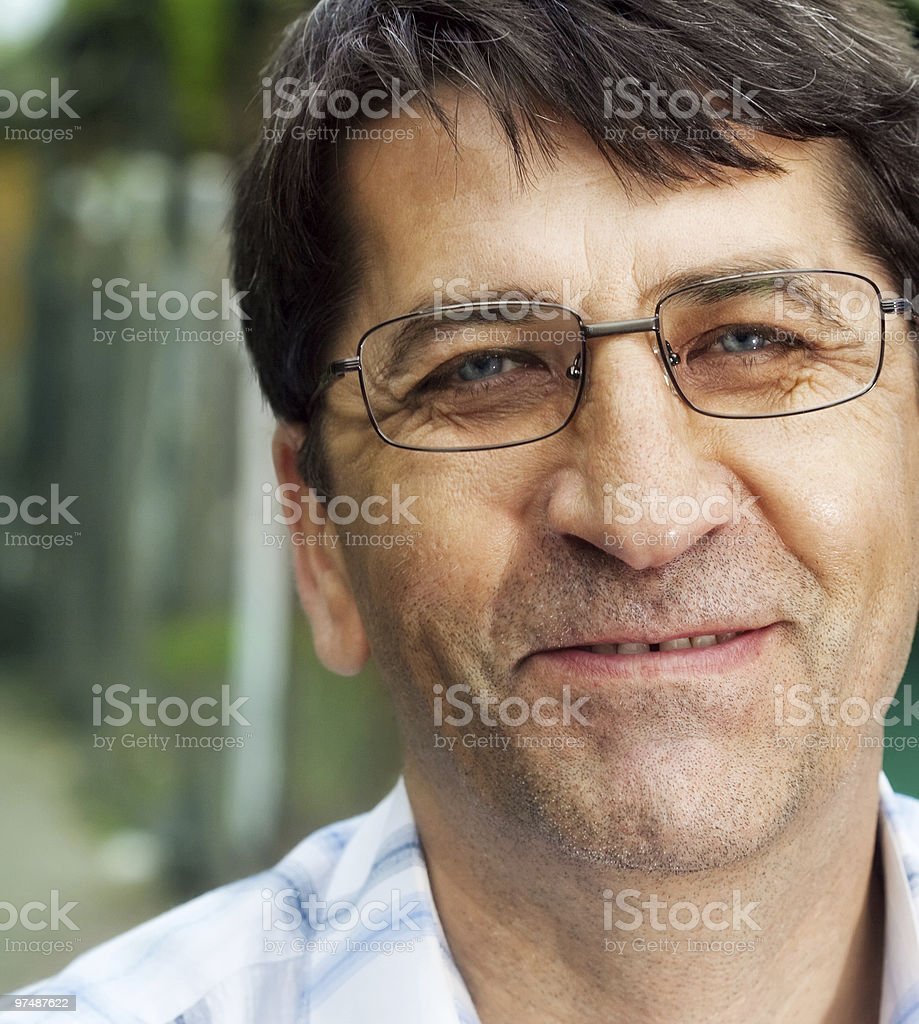 Outdoor portrait of happy joyful business man royalty-free stock photo