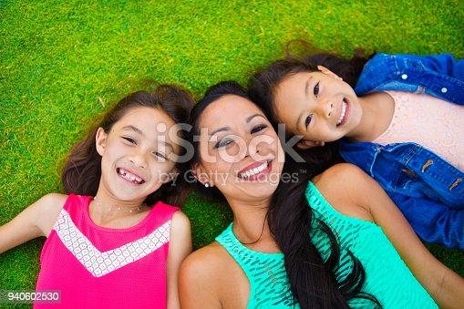 istock Outdoor Portrait of Hawaiian Mother and Children 940602530