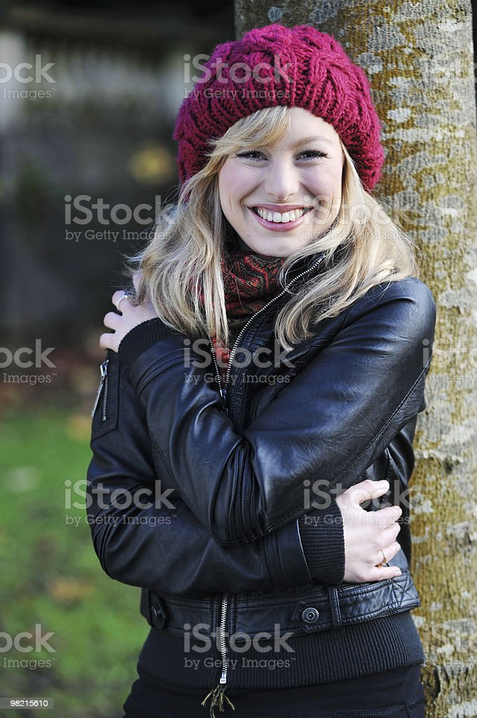 Outdoor Portrait Of Smiley Woman royalty-free stock photo