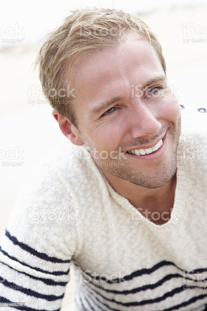 Outdoor Portrait Of Smiling Young Man royalty-free stock photo