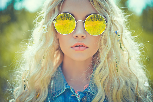 Hippie fashion stock photos