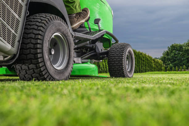 Outdoor Power Equipment Riding Lawn Mower Tractor stock photo