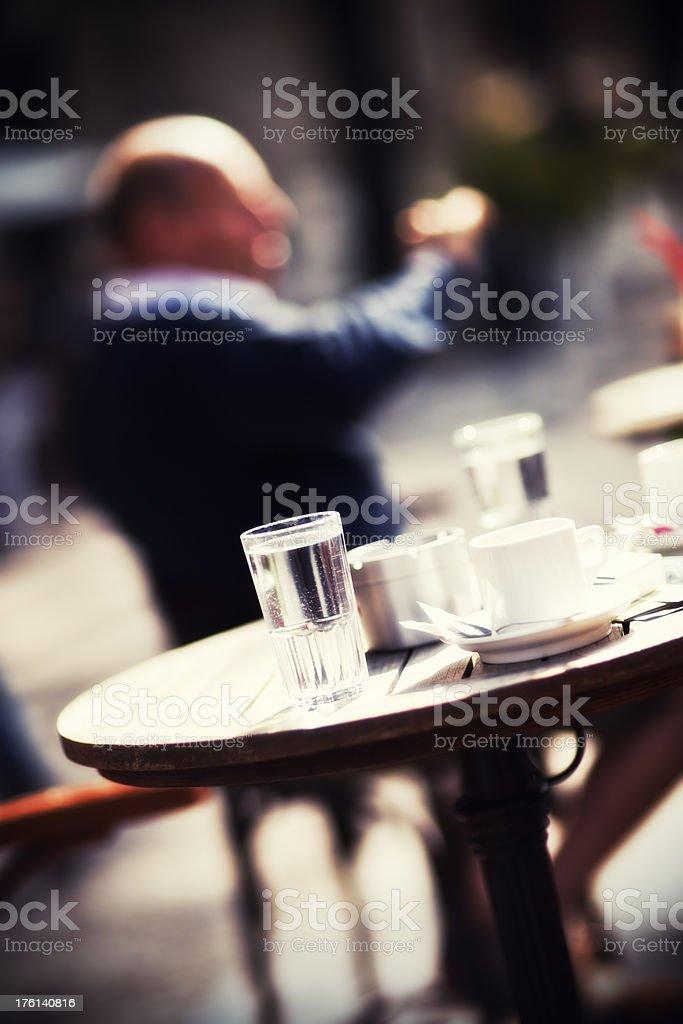 Outdoor pub coffee break royalty-free stock photo