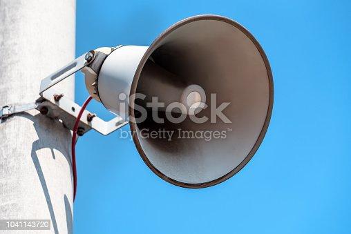 istock Outdoor public address loudspeakers 1041143720