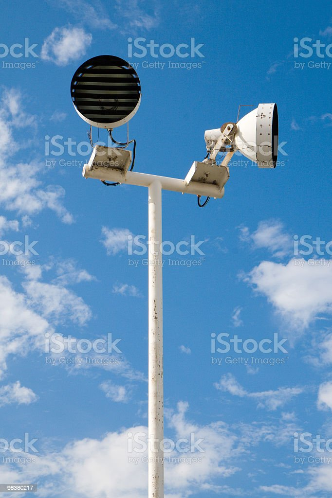 Outdoor public light stands royalty-free stock photo
