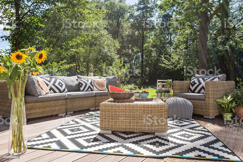 Outdoor relax in luxurious style stock photo